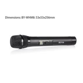 Microfone Boya Sem Fio By-whm8 48uhf Canais