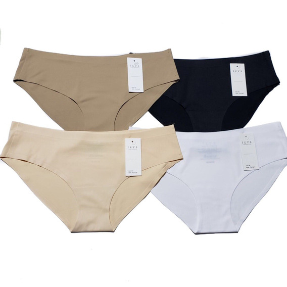 8 Pantaletas Sin Costuras Corte Bikini - Marca Ilys / Lumie