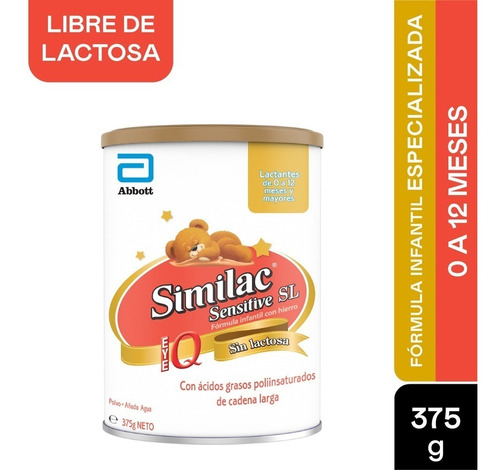 Formula Infantil Similac Iq Sensitive Sl X 375gr