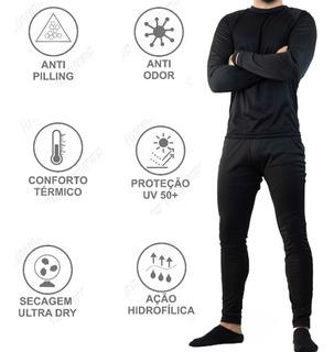 Cj Térmico Roupa Frio Blusa Calça Bike Ciclista Blusa+calça