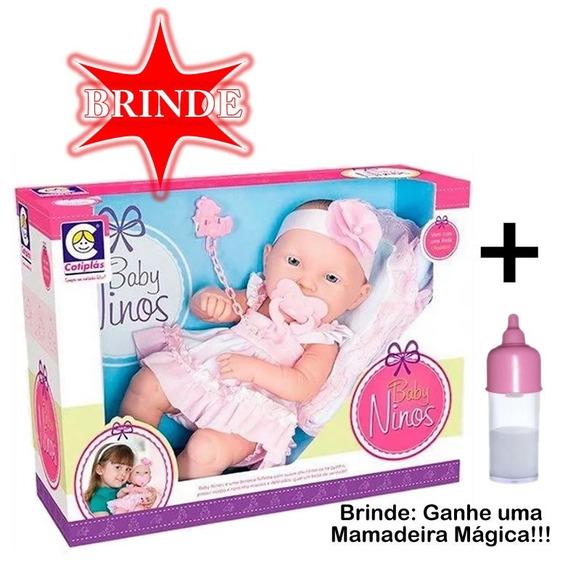 Boneca Baby Ninos + Brinde - Cotiplas