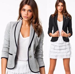 Blazer Terno Casaco Feminino Camisa Manga Comprida Importada