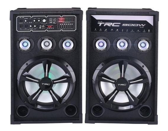 Caixa De Som Bluetooth Trc 399 Amplificada 900w