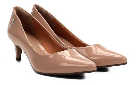 Scarpin Sapato Elegante Feminino Via Uno Salto Médio Nude