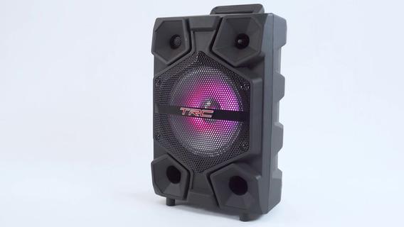 Caixa De Som Amplificada Portátil 150w Rms Trc 512 + Microfo