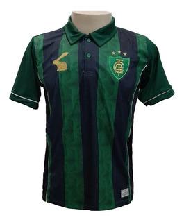Camisa Polo América Mineiro Masculina - Verde Preto