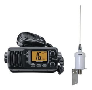 Combo De Radio Movil Marino Vhf 25w Icom + Antena 1600hc