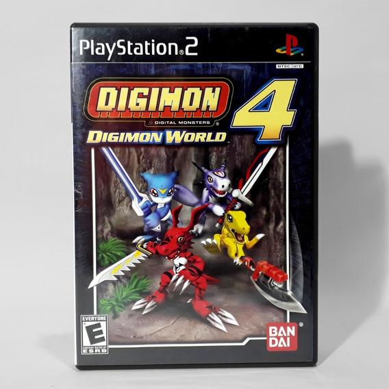Jogo Digimon World 4 Ps2 Playstation Americano Original Raro