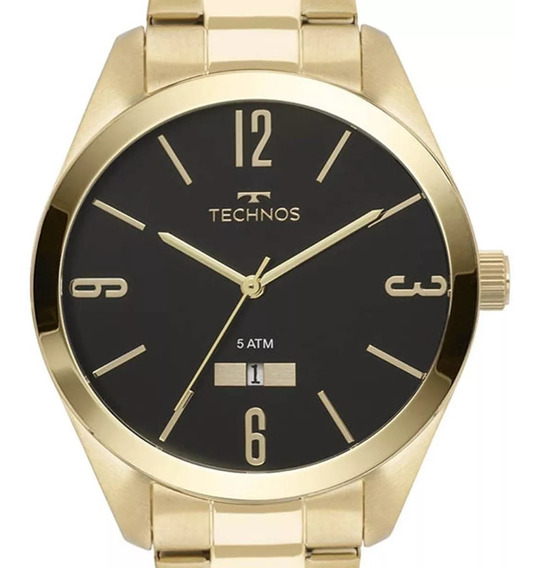 Relógio Technos Dourado Masculino Classic Steel 2115mnw/4p Original C/ Nf-e