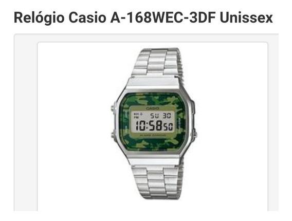 Relógio Casio A-168wec-3df Unissex