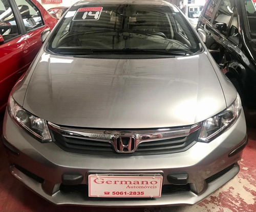 Honda Civic 2014 1.8 Lxs Flex Aut. 4p Prata 2014