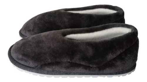Pantufla Babucha Termica Tipo Zapato Dama Azul Oscuro