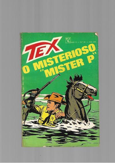 Tex N.24 - 1a.série - O Misterioso Mister P - Vecchi -