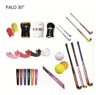 Combo Hockey Palo + Canilleras + Bucal + Funda Bocha Olivos