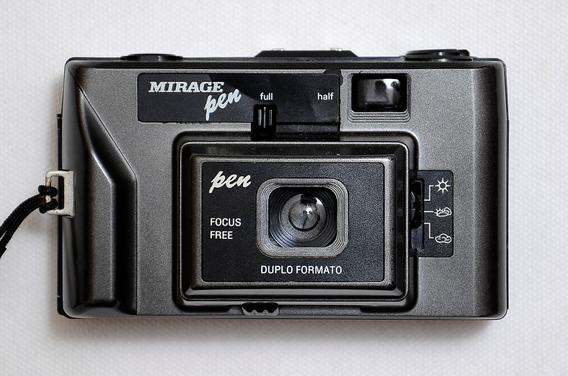 Câmera Analógica Mirage Pen Filme Com Bolsa Anos 80