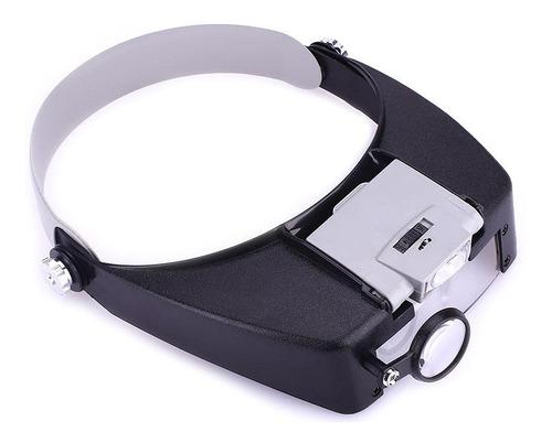 Cabeça De Joalheiros Ajustáveis Headband Lupa Iluminada