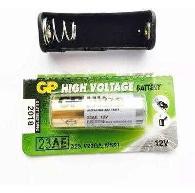 Suporte Bateria A23 + Bateria A23 12v Gp Alcalina ( 5 Kits )