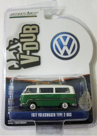 Greenlight 1977 Volkswagen Type 2 Bus Mide 7 Cm. Escala 1:64