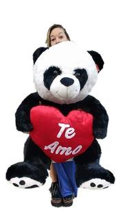 Oso Panda Peluche Grande + Corazon Local V. Crespo