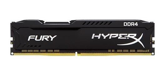 Memória Gamer 8gb Ddr4 2666mhz Hyper X Fury Preta P/ Pc
