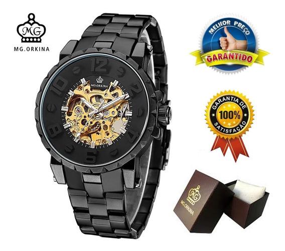 Relógio Masculino De Luxo Automático Mg Orkina Melhor Preço
