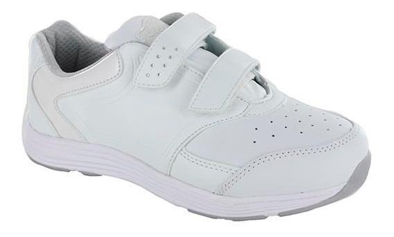 Tenis Para Niña Doble Velcro Coqueta Mod Hule Blanco T15-17