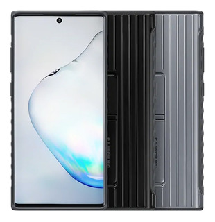 Capa Protective Standing Para Galaxy Note 10+ Note 10 Plus Original Samsung C/ Certificação Militar E Suporte P/ Vídeos