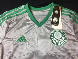 Camisa Palmeiras 2015 Third Infantil Prata Nova Na Etiqueta