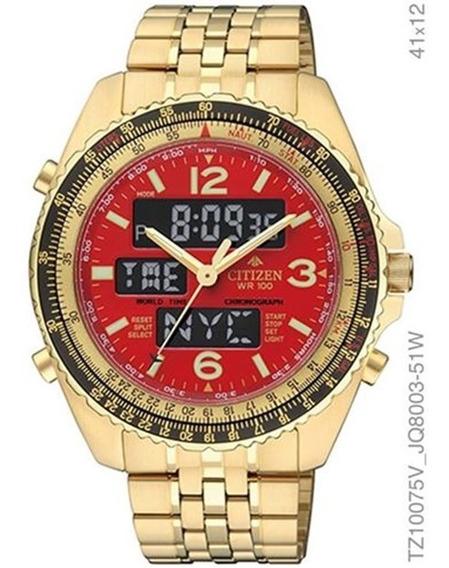 Relógio Citizen Masculino Dourado Digital Tz10075v