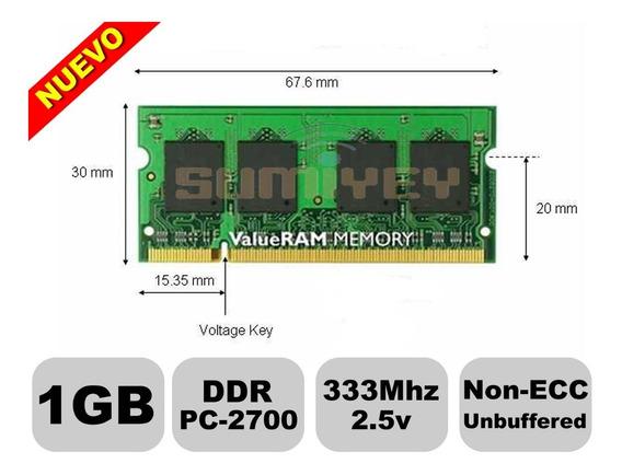#7 Memoria 1gb Ddr 333mhz Pc-2700 2.5v Cl=2.5 Laptop