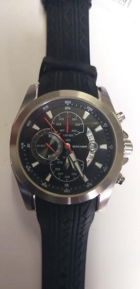 Relógio Backer Masculino 1688659m Pr Original Barato