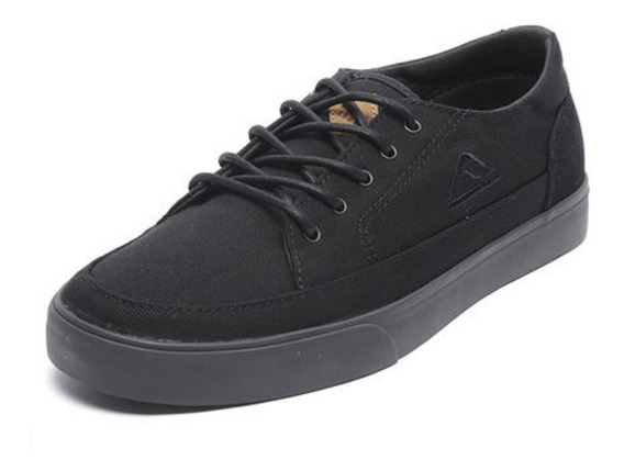 Zapatillas Reef Society All Black Negro Lona