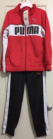 3 Peças:conjunto(blusa/calça)+camiseta Puma Original 6t