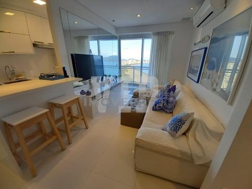 Maravilhoso Apartamento Vista Total Para O Mar No Unlimited Em Santos - Ap00390 - 68687469