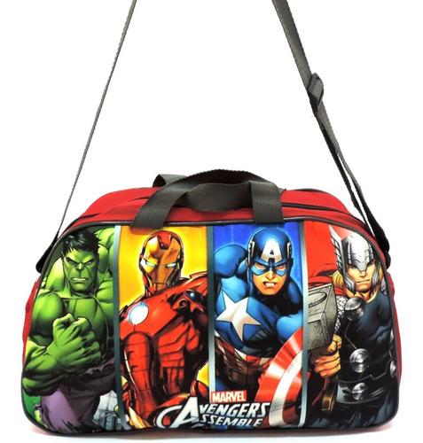 Imagem 1 de 6 de Bolsa Infantil Sacola Viagem Criança Vingadores Avengers Herois Grande F5