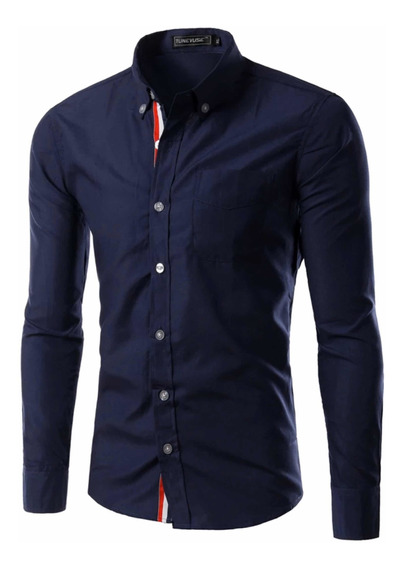 Camisa Caballero Juvenil Slim Fit Moda Casual Formal Vestir