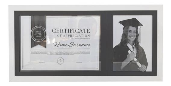 Moldura Branca Para Fotos Certificado Diploma Com Acetato