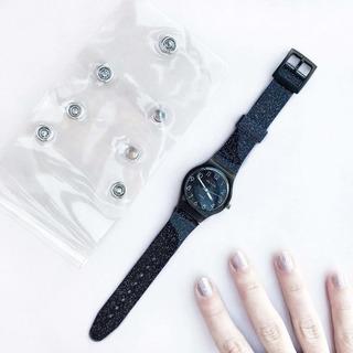 Reloj Silver - Malla Con Glitter
