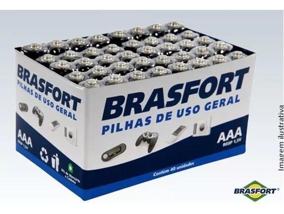 Pilha Palito Uso Geral Aaa 1,5 V Brasfort 15 Cartelas Cx60