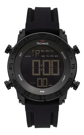 Relógio Masculino Bjk006aa/4p 48mm Calendário Silicone Preto