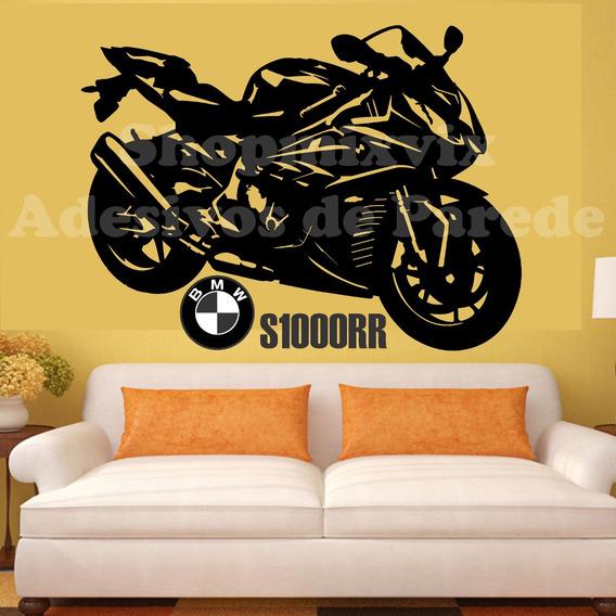 Adesivo De Parede Moto Bmw S1000rr Motorrad Sportiva Decoraç