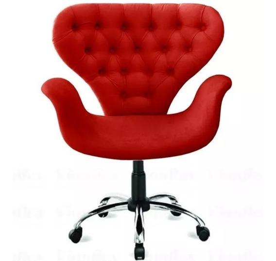 Poltrona Cadeira Escritório Quarto Sala Regulagem Rodinhas