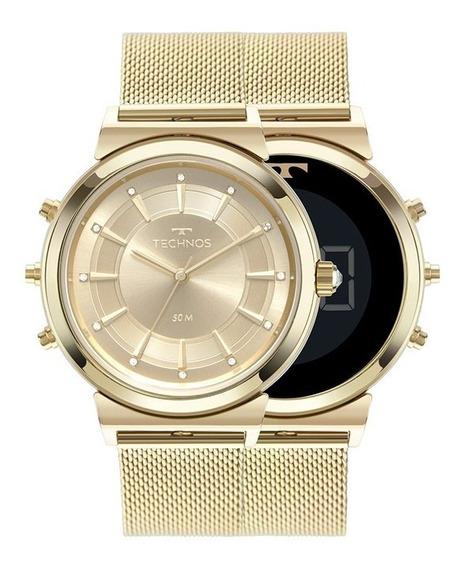 Relógio Technos Feminino Duas Faces 9t33aa/4x Dourado