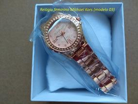 Relógio De Luxo Feminino Rosê Com Caixa Promoção