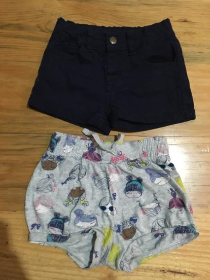 2 Shorts / Bermudas Para Niña Gap Y Mon Caramel, 2 Y 3 Años
