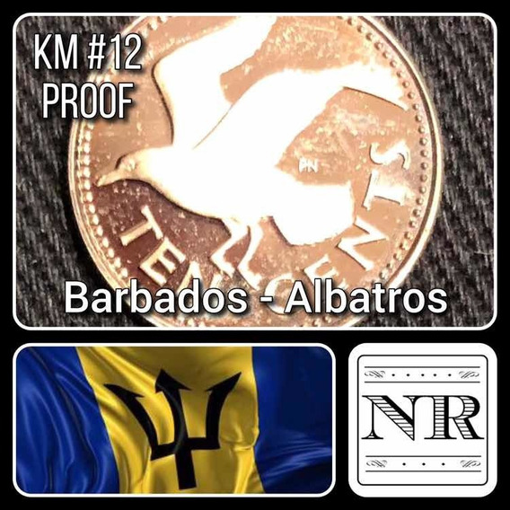 Barbados - 10 Cents - Año 1975 - Km # 12 - Proof - Albatros