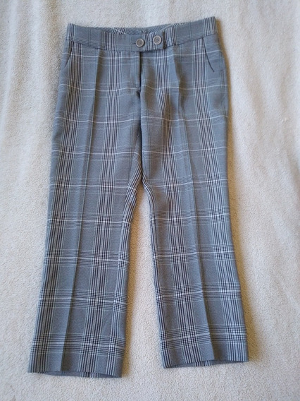 Pantalon Mujer Ayres Principe Gales Gris Negro Blanco L Sale