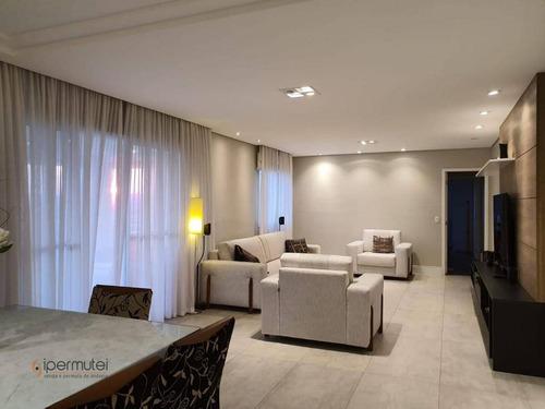 Ótimo Apartamento Com 3 Suítes À Venda, 171 M² Por R$ 1.250.000 - Jardim Arpoador - São Paulo/sp - Ap1893