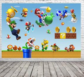 Painel De Festa Mario Bros