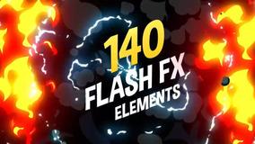 140 Projetos Flash Fx Elements After Effects